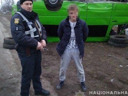 В Одеській області п'яний хлопець викрав маршрутку