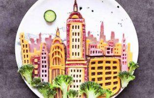 ART & FOOD: картини з овочів, фруктів, шоколаду, ковбаси