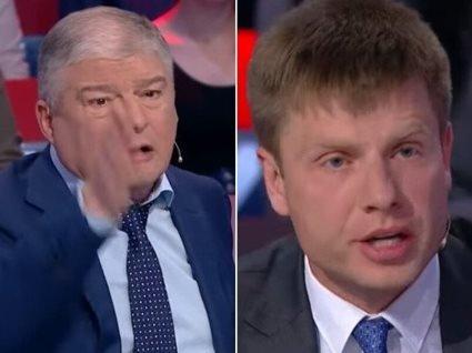 «Ти козляра та Іуда!»: екс-міністр та нардеп влаштували бійку в прямому ефірі (відео)