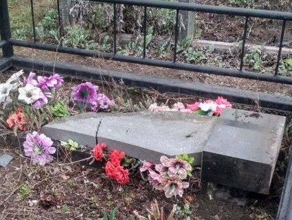 На Київщині п'яні школярі руйнували могили на кладовищі (фото)