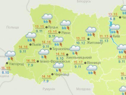 Погода в Україні на тиждень