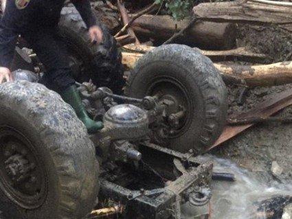 На Закарпатті лісорубів знесла 5-метрова хвиля бруду