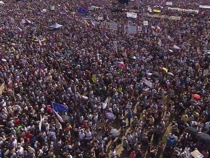 Столицю Чехії «накрили» акції протесту