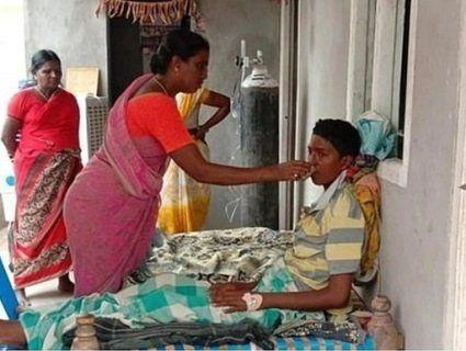 Врятувала свого сина від кремації заживо