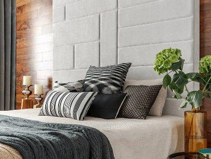 Текстильні панелі у спальні
