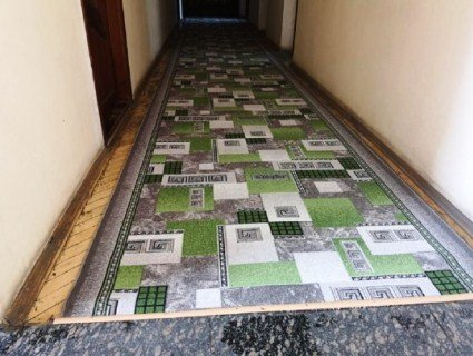 «Ще б траву пофарбували»: районні чиновники до приїзду Зеленського поміняли килим (фото)