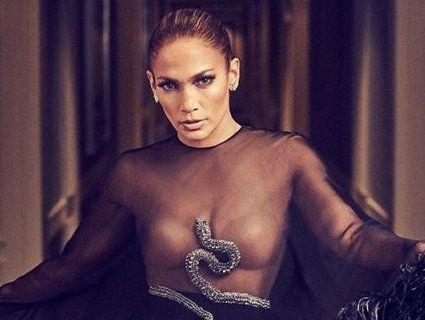 Фотосесія Дженніфер Лопес: у прозорій сукні та зі змією на грудях (фото)
