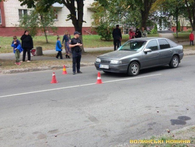У Луцьку 10-річного хлопчика збила машина (фото)