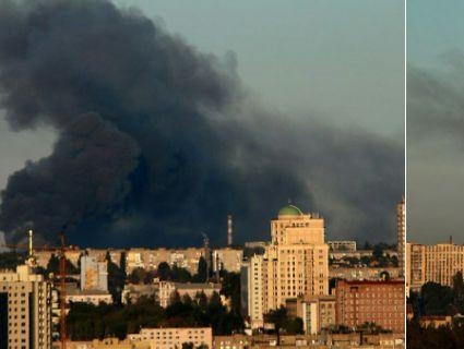 У Донецьку лунають вибухи: горить склад боєприпасів бойовиків