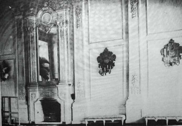 Інтер'єр в Олицькому замку, поч. ХХ ст.