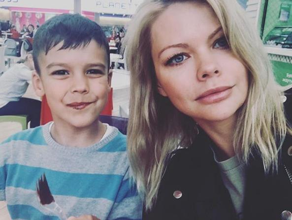 Олександра Клітіна з сином