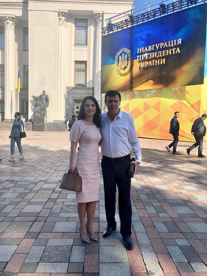 Ірина з батьком на інавгурації Володимира Зеленського