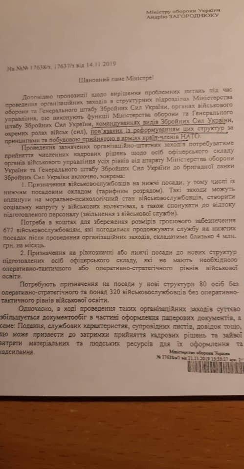 Скандальні документи Генштабу та Міноборони
