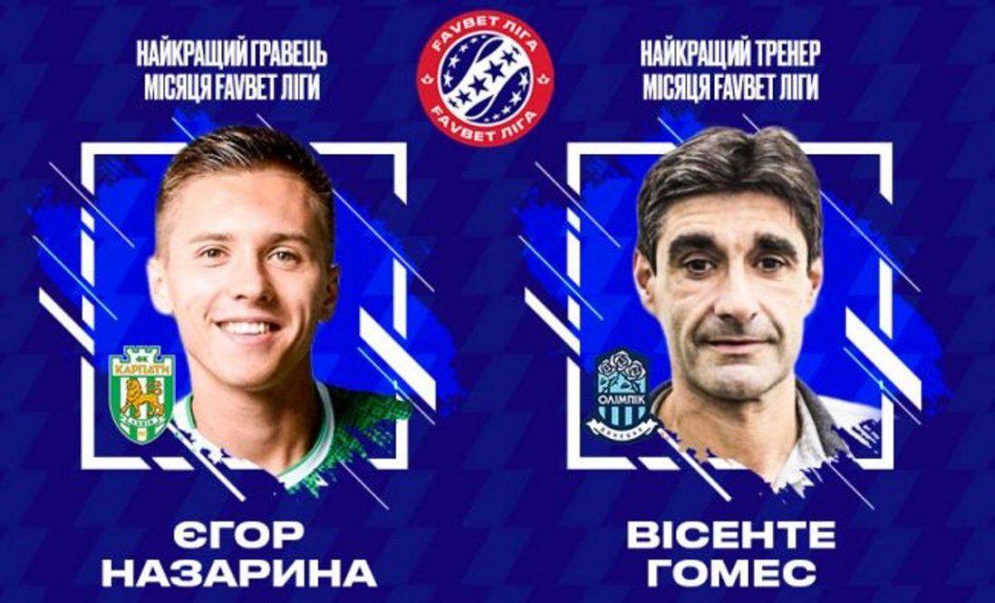 Хто став найкращим футболістом і тренером у листопаді