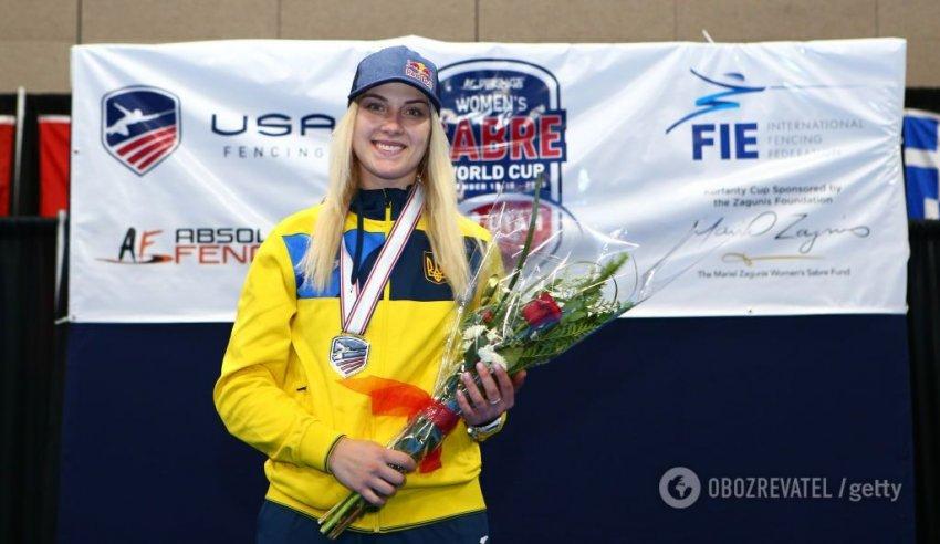 Ольга Харлан на Кубку світу з фехтування