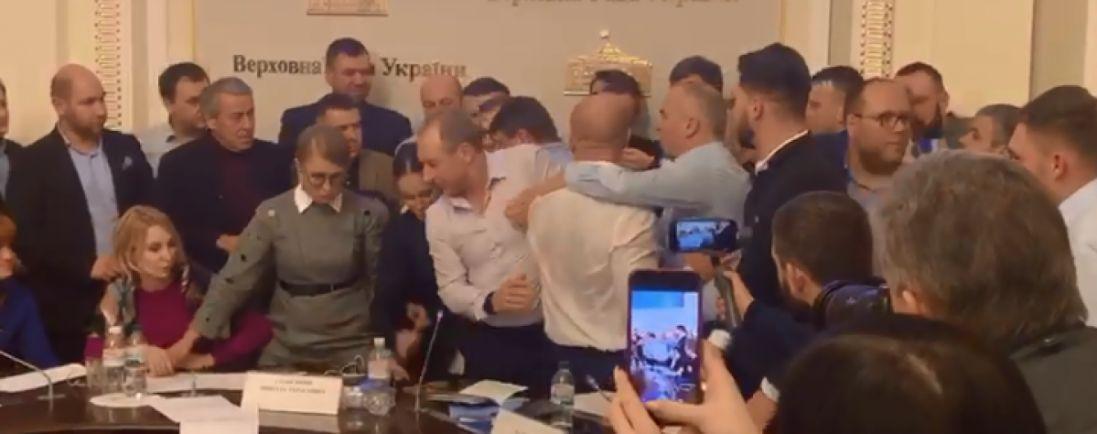 Кива, Тимошенко та інші нардепи вночі почубилися у Верховній Раді (відео)