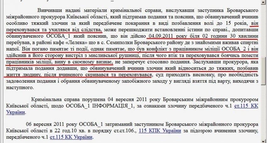 Віталій Запорожець після вбивства переховувався від правоохоронців