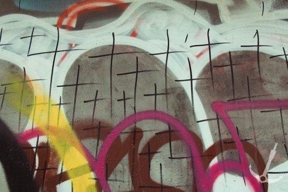 Затриманий розмальовував будинки хрестами