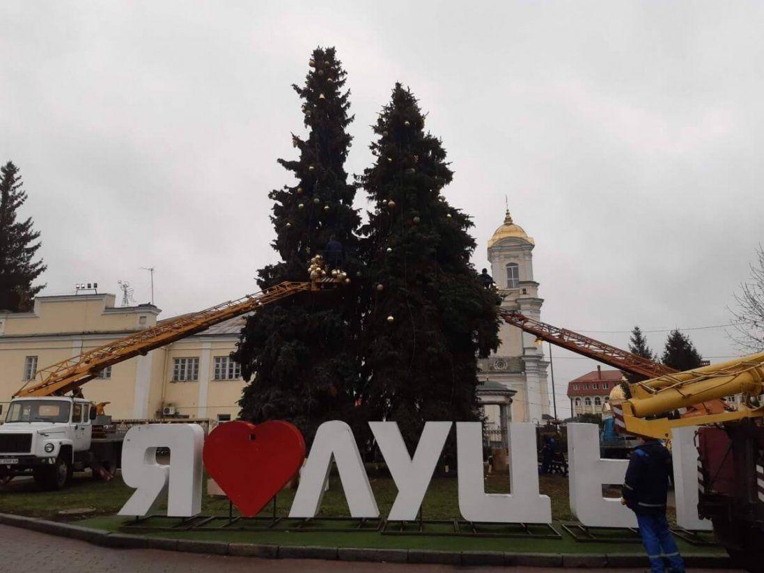 Чи зріжуть ялинки на Театральному майдані у Луцьку