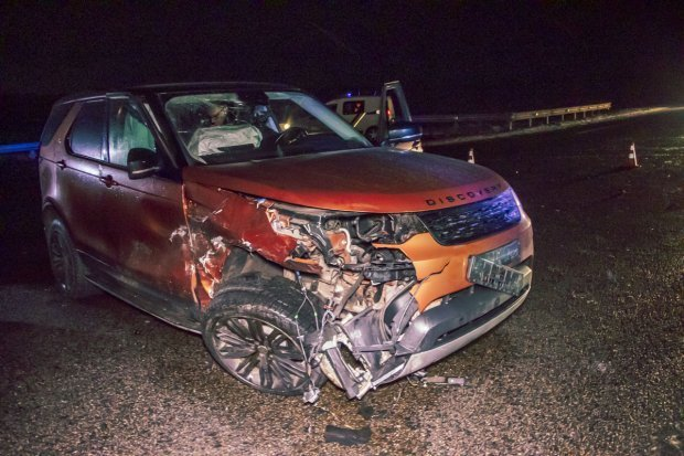 Водій Land Rover не постраждав / фото