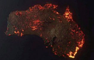 Карта «масштабу» пожеж у Австралії виявилася фейком