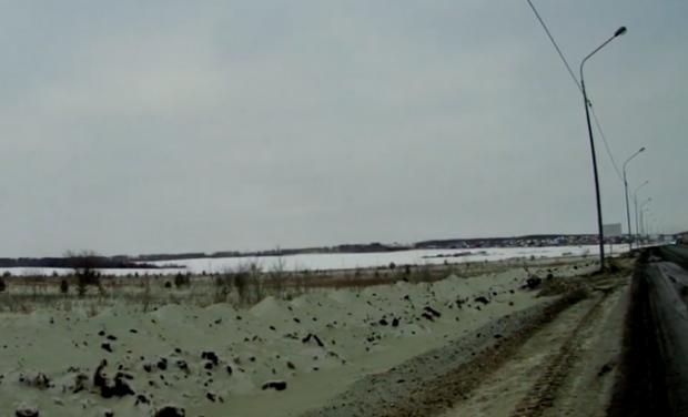 Зелений сніг у Челябінську/ фото з соцмереж