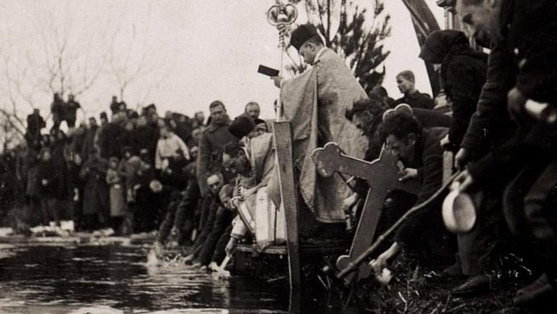 Вражаючі фото Водохреща на Волині 100 років тому