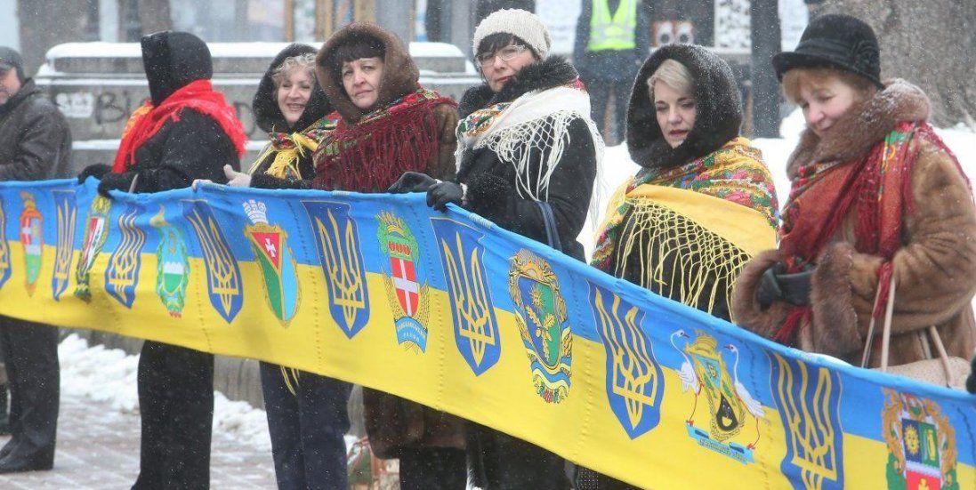 У День Соборності «живий ланцюг» єднає береги Дніпра (відео)