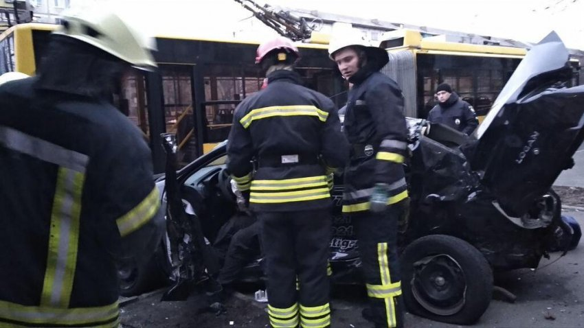 ДТП на бульварі Перова в Києві