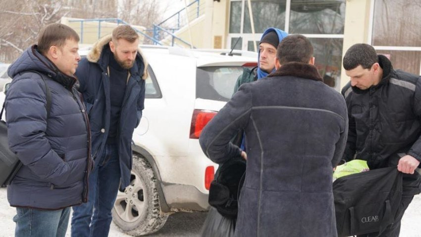 Зустріч звільненого в'язня Кремля Рустема Ваітова