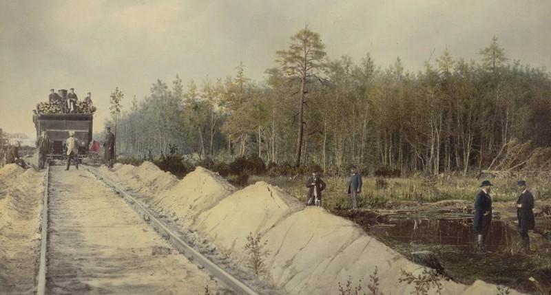 Прокладання залізниці через Полісся, кінець ХІХ ст.