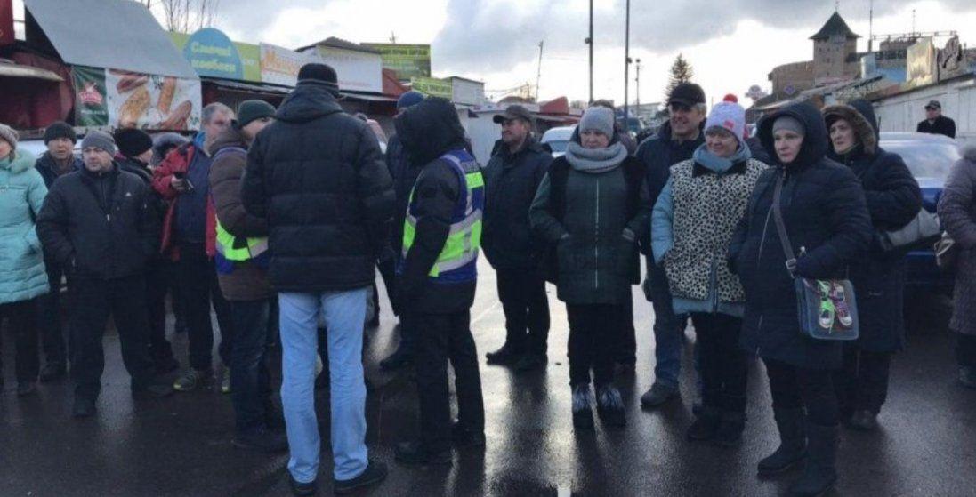 У Луцьку мітингують підприємці з «Центрального ринку» (фото)