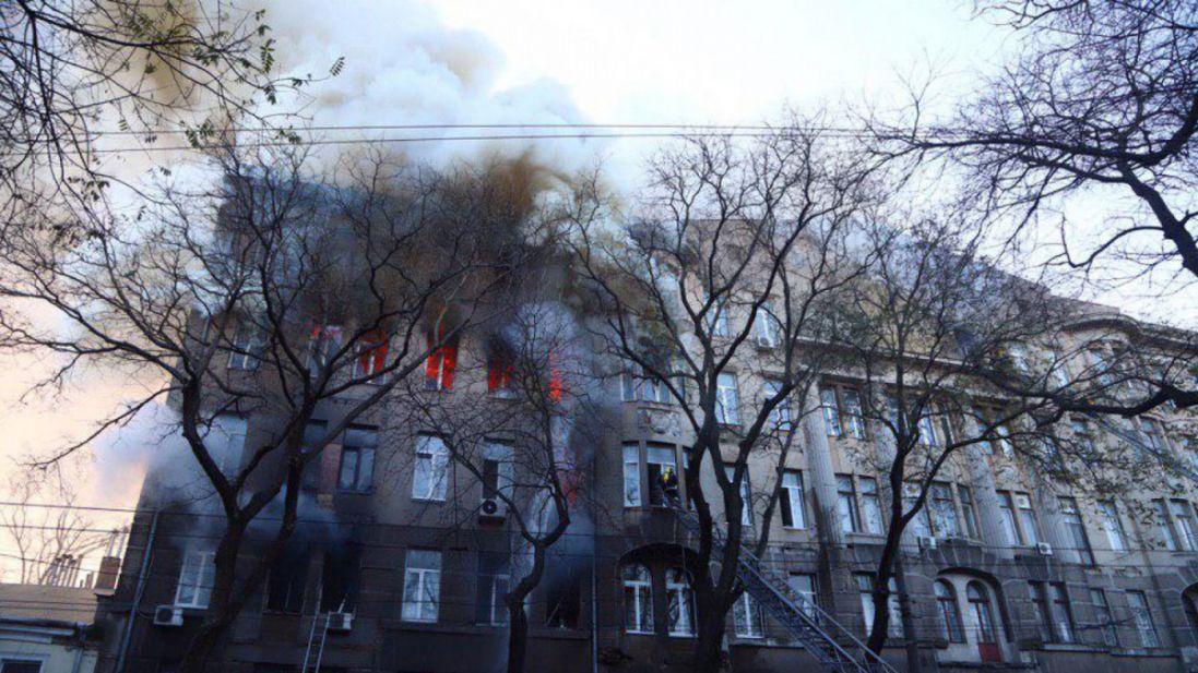 Знесуть одеський коледж, в якому під час пожежі загинули люди