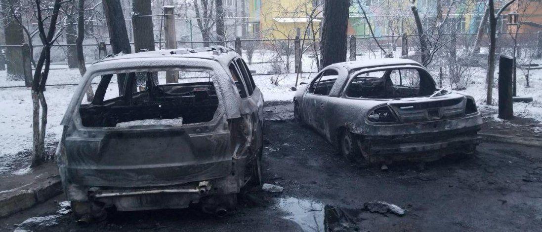 Біля Києва підпалили машину депутата (фото)