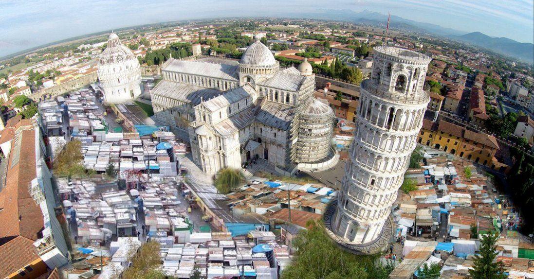 Старий ринок Луцька у Ватикані, в Парижі і в Пізі (фотофантазії)