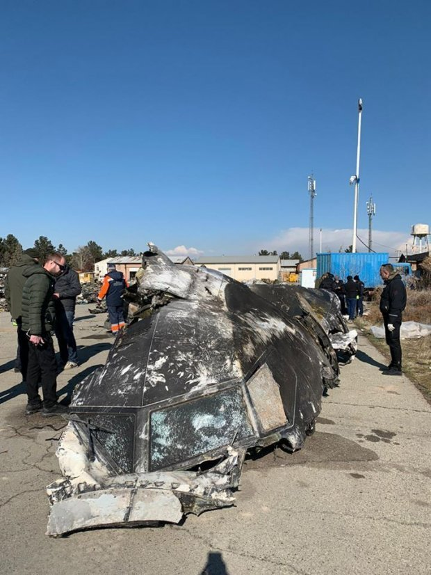 Збитий в Ірані літак МАУ / фото ОПУ