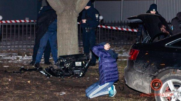 Двох з учасників банди затримали на місці ДТП ?/ фото: Информатор