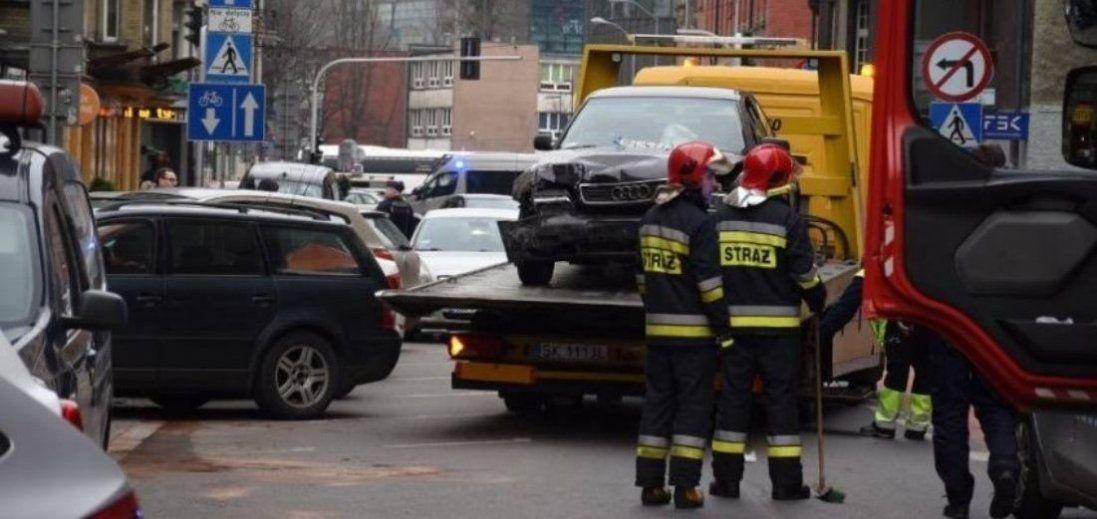 П'яний українець у Польщі протаранив вісім автомобілів (фото)