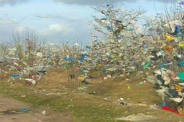 Ураган розніс по окрузі мільйони пакетів зі сміттєзвалища