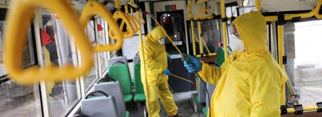 Коронавірус в Україні: у Луцьку дезінфікуватимуть автобуси й тролейбуси