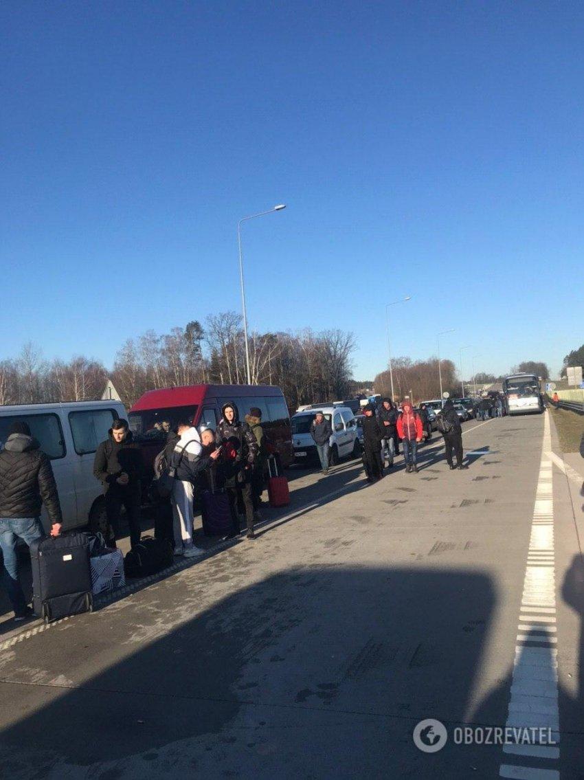 Українці влаштували страйк на польському кордоні