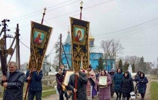 Попри карантин на Волині прихильники УПЦ МП влаштували хресний хід
