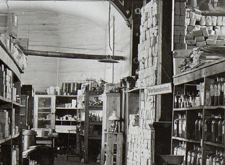 Напис «Пов'язки» в храмі Святого Миколая, 1917 р.