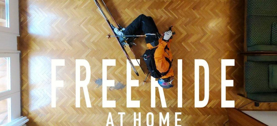 В Іспанії фрірайдер «підкоряв» гори на лижах у своїй вітальні