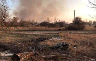 На Волині підпал трави ледь не спричинив пожежу у селі