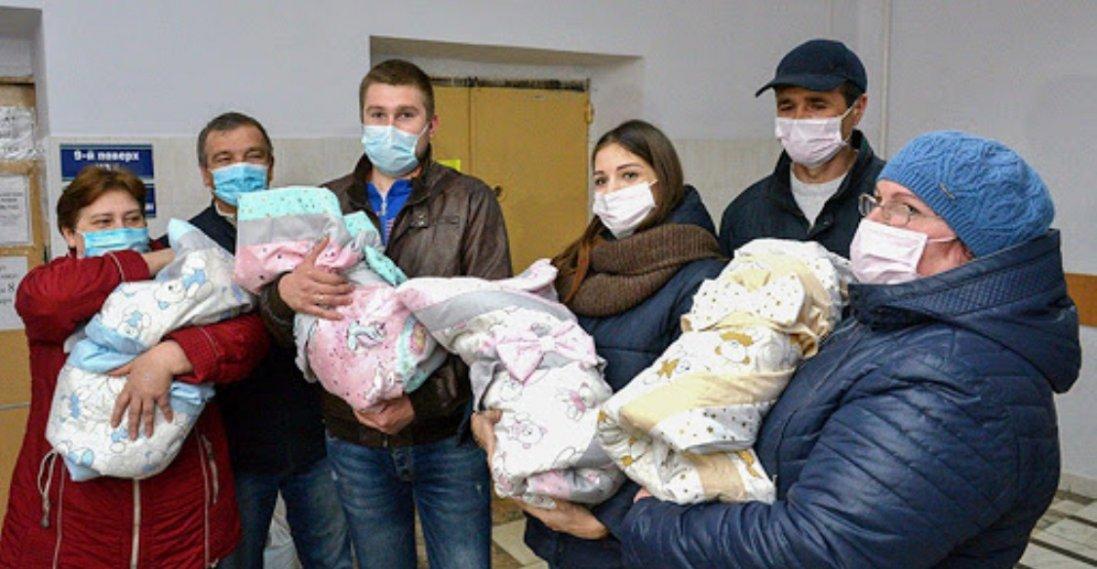 У Кропивницькому під час карантину жінка народила  четверню