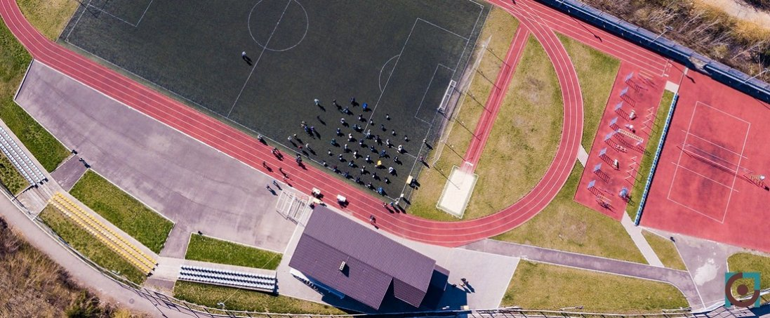 «Стадіонна» сесія Луцькради з висоти пташиного польоту