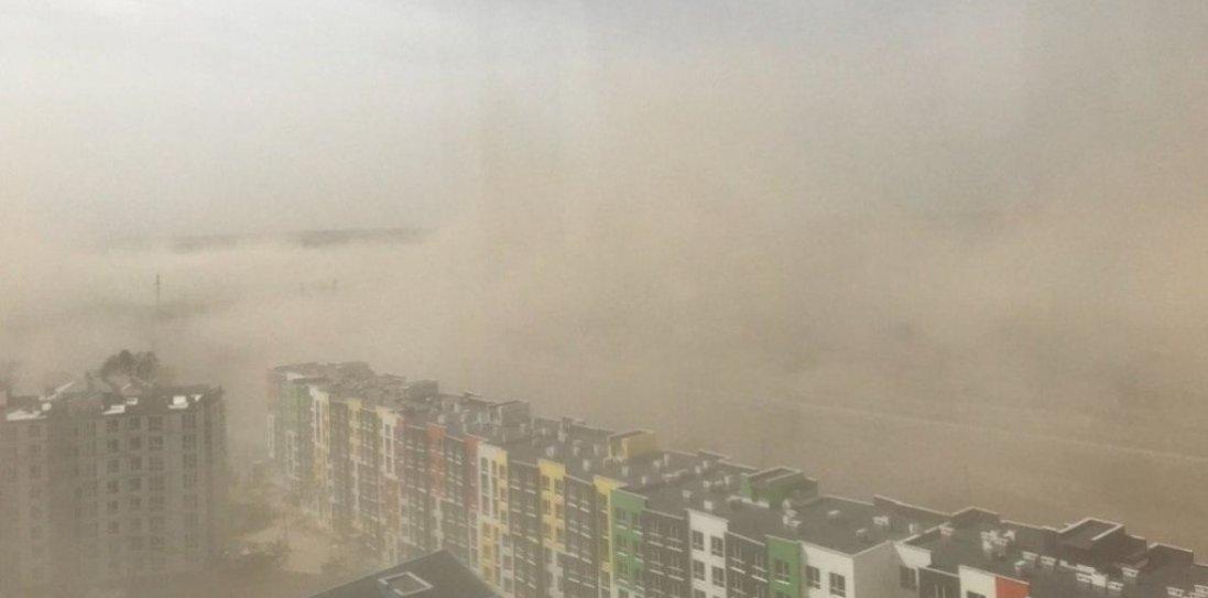 Падали дерева, стовпи, телеантени: у Києві через пилову бурю госпіталізували п'ять осіб