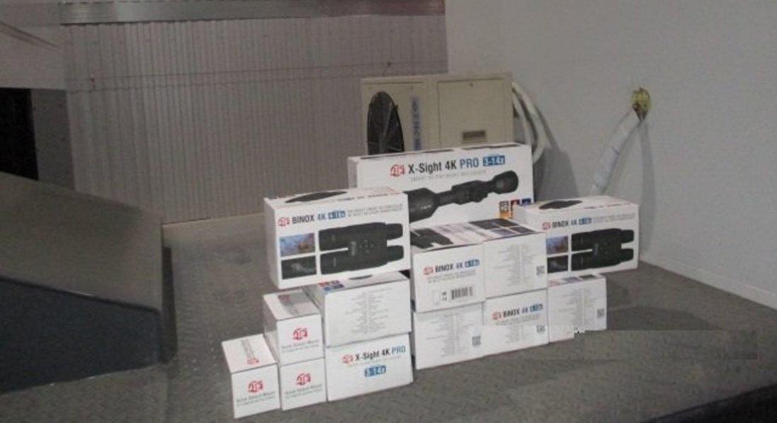 На «Ягодині» затримали контрабанду цифрових біноклів і прицілів на понад 700 тисяч гривень