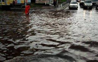 Київ затопило через сильні зливи